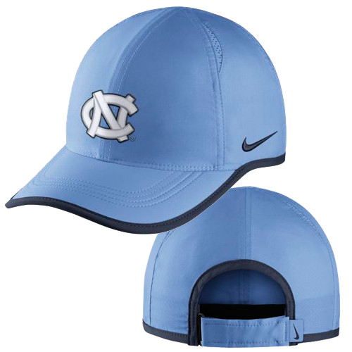 Nike Carolina Featherlight Hat - Carolina Blue. Image 1. Loading zoom 259c83d82e7a