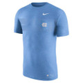 Nike Marled Elevation Essentials Pocket Tee - Heather Carolina Blue