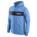 Nike Jumpman Carolina Sideline ThermaFIT Full Zip Hood - Carolina Blue