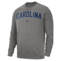 Nike Carolina Fleece Club Crew - Gray with Arc Carolina