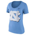 Nike Women's Scoop Neck Modern Sport Tee - Carolina Blue