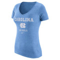 Nike Women's DriBlend V-Neck Franchise Tee - Carolina Blue
