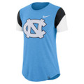 Nike Women's TriBlend Fan Crew Tee - Carolina Blue