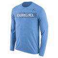 Nike Jumpman Sideline Jump LONG SLEEVE Tee - Carolina Blue