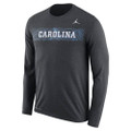 Nike Jumpman Sideline Jump LONG SLEEVE Tee - Charcoal Heather