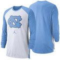 Nike Jumpman Breathe Elite Long Sleeve Top - White and Carolina Blue