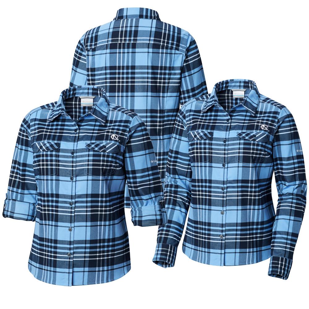a8e036e6b47 Women Columbia Carolina Silver Ridge Flannel Shirt. Loading zoom