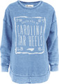 Ladies Pressbox Faded Fleece Crew - Ruffy