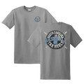 Carolina Tar Heels Crossed Bats Real Ball Front and Back Tee - Charcoal Heather
