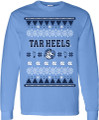 YOUTH Ugly Christmas LONG SLEEVE Tee - Tar Heels Ram Face