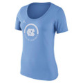 Ladies Nike Jumpman Basketball Verbiage Tee - Carolina Blue