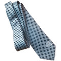 Eagles Wings Carolina Blue Tie-Navy Diamonds