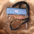 Desden Small Clear Purse with Blue Floral NC Trim
