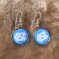 FTH  Blue Circular NC Dangle Earrings