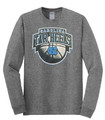 Carolina Real Basketball Shield LONG SLEEVE Tee - Graphite Heather Gray