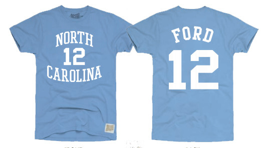 40d490f38 Retrobrand Phil Ford Tee Shirt - Carolina Blue