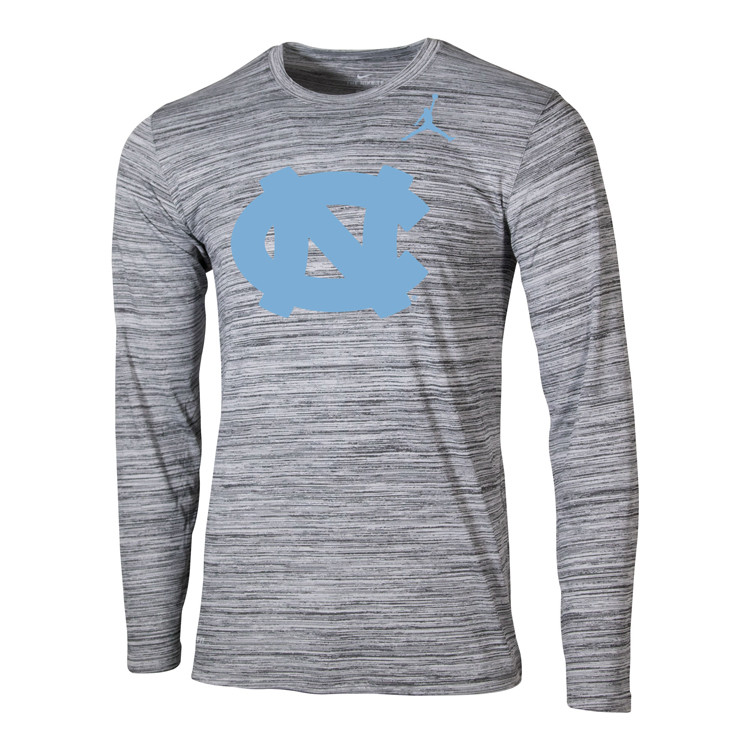 e740ab17639 Nike Jumpman Velocity Legend LONG SLEEVE Tee - Space Dye Gray with NC.  Loading zoom