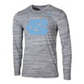 Nike Jumpman Velocity Legend LONG SLEEVE Tee - Space Dye Gray with NC