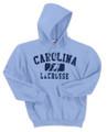 Carolina Lacrosse HOODED Sweatshirt - Carolina Blue with Split Icon Logo