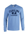 Carolina Lacrosse LONG SLEEVE Tee - Carolina with Split Icon Logo