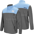 Colosseum Carolina You Can Do It 1/2 Snap Fleece Jacket - Heather and Carolina Blue