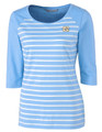 Women's Cutter and Buck Ladies 3/4 Sleeve Striped Shirt