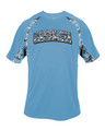 YOUTH Badger Performance Tee - Carolina Blue with Digitial Camo Arc