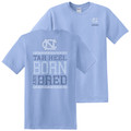 Faded Tar Heel Born and Bred Tee - Carolina Blue