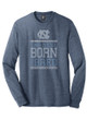 Carolina LONG SLEEVE TriBlend Tee - Navy Heather Born and Bred