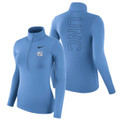 Women's Nike Carolina 1/4 Zip Warm Top - Carolina Blue