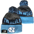 YOUTH New Era Gray Tar Heels Color Block Toboggan