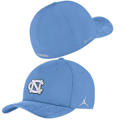 46da28123 Nike Jordan Flex Fit Carolina Blue Sideline Hat
