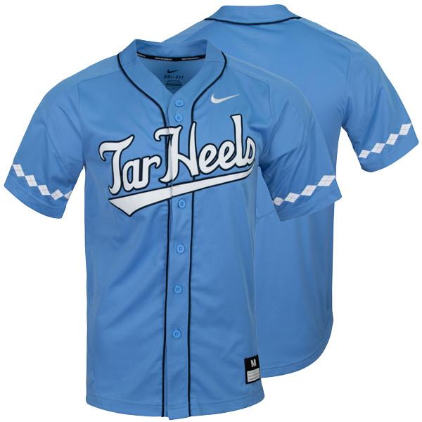 55e5b30a 2019 Nike Carolina Baseball Jersey - Full Button Carolina Blue. Loading zoom