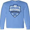 YOUTH 2019 NCAA National Champion Field Hockey LONG SLEEVE Tee Shirt - Carolina Blue