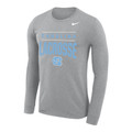 Nike Carolina LACROSSE LONG SLEEVE Legend Performance Tee - Gray