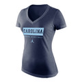 Nike Jumpman Carolina Triblend V Neck - WOMEN'S BASKETBALL