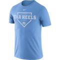 Nike Drifit Cotton Home Plate Tee - Carolina Blue