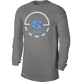 Nike Legend Key Long Sleeve Tee - Gray Heather