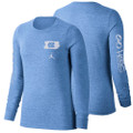 Nike Jordan Women's Long Sleeve Tri-Blend Go Heels T-shirt - Carolina Blue