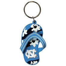 Gameday flip flop key ring-Colorful flip flop featuring an NC