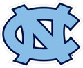 Carolina DECAL - Interlocking NC - Carolina Blue