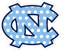 Carolina DECAL - Interlocking NC - Polka Dot