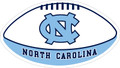 Carolina MAGNET - Carolina Blue & White FOOTBALL