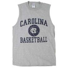 Carolina Basketball gray muscle tee with basketball print