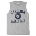 Carolina Basketball gray muscle tee with basketball print