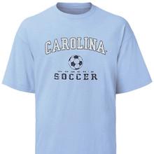 Carolina WomenÕs Soccer tee - faded design