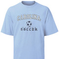 Carolina WomenÕs Soccer tee - faded design