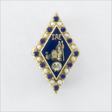 ΣΑΕ Alternating Pearl and Sapphire Badge