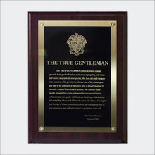 """The True Gentleman"" Plaque"