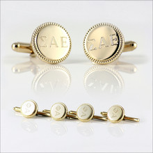 ΣAE Engraved Cufflinks & Studs Set